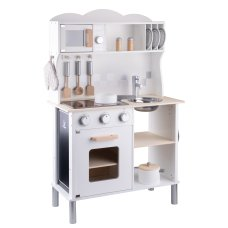 New Classic Toys Modern Children's Kitchen with Electric Hob White