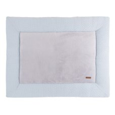 Baby's Only Boxcloth Sun Powder Blue with Silver (85x100)