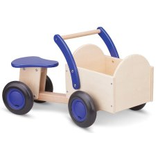 New Classic Toys Wooden Cargo Bike Wood/Blue