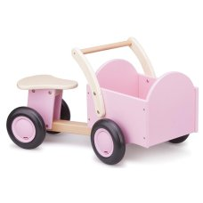 New Classic Toys Wooden Cargo Bike Pink