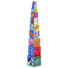 Djeco stacking tower farm animals