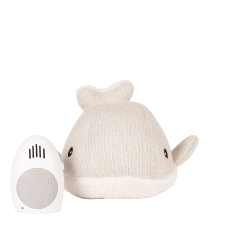 Flow heartbeat toy Moby the whale gray