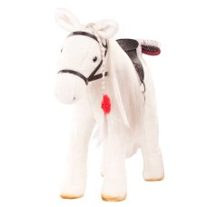 Götz Boutique, competition horse with saddle and rein, Lipizzaner, white, 37 cm