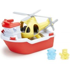 Green Toys Lifeboat with Helicopter