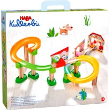 Haba Kullerbü marble track rolls to the stable