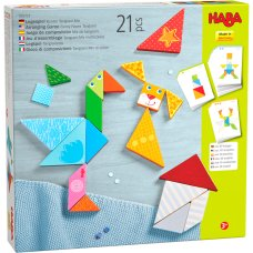 Haba game colorful tangram mix