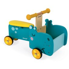 Janod Wooden Carriage Bike Hippopotamus