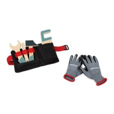 Janod Brico'Kids tool beltwith gloves