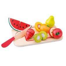 New Classic Toys Fruit Set on Cutting Board