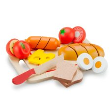 New Classic Toys Breakfast set on cutting board