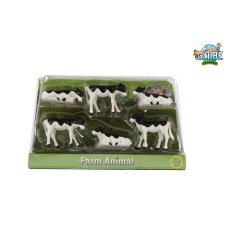 Kids Globe Calves Black White 6 Pieces 1:32