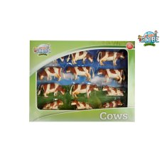 Kids Globe Cows Red Fur 1:32