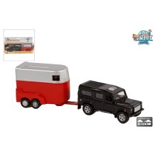Kids Globe Land rover with horse trailer