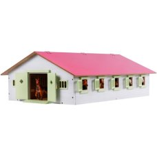 Kids Globe Horse stable with 7 boxes of 1:24