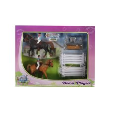 Kids Globe play set 2 horses with riders