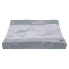 Baby's Only Changing Mat Cover Marble gray / silver gray