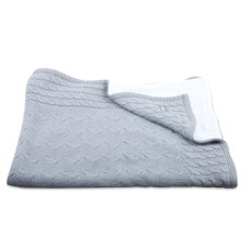 Baby's Only Cot Blanket Chenille Cable Gray