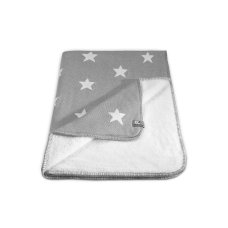 Baby's Only Cot Blanket Star Gray with White