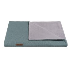 Babies Only Cot blanket Teddy Classic Stonegreen