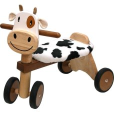 I'm Toy Balance Bike Cow Brown