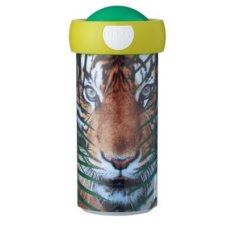 School Cup Campus 300 ml Animal Planet Tiger Green