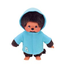 Monchichi clothing set Blue Parka with Hood