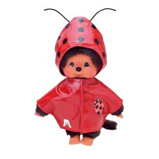 Monchichi clothing set Raincoat with Ladybug