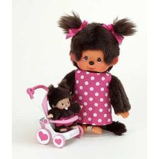 Monchichi 20 cm Mother with shopping cart