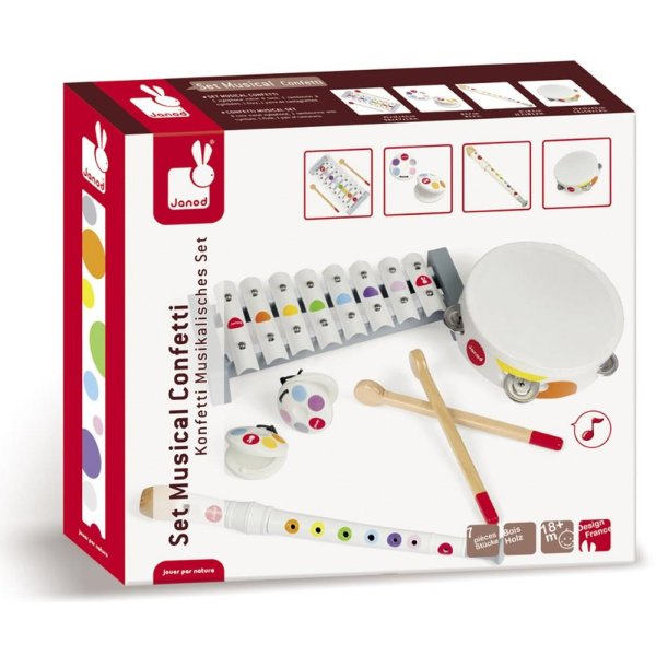 Janod Confetti Musical Instruments Set Offer At Plustoys Nl