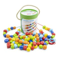New Classic Toys Wooden Beading Beads