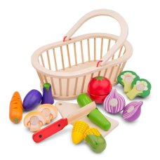 New Classic Toys Cutting Set Vegetable Basket