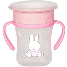 Miffy Anti leak cup 360° With Handles 250ml Pink