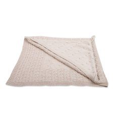 Baby's Only Shawl Chenille Cable Beige