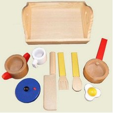 Playwood Cooking Set on Tray