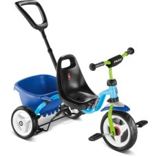 Puky tricycle Blue / Kiwi Ceety with push rod