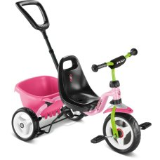 Puky tricycle Pink / Kiwi Ceety with push rod