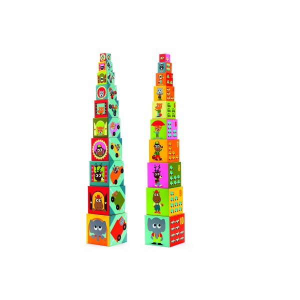 Djeco stacking tower Vehicules