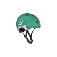 Scoot and Ride helmet with reflection XS Forest