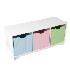 Kidkraft Nantucket Storage bench Pastel colors
