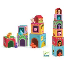 Djeco block tower with animals