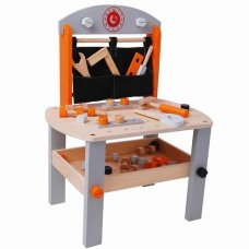 Playwood Workbench with Tools